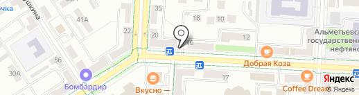 Сеть цветочных салонов на карте Альметьевска