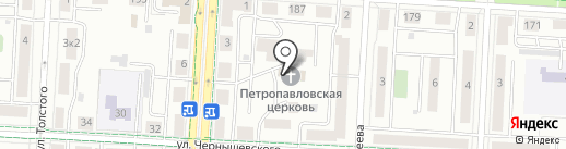 Храм Петра и Павла на карте Альметьевска