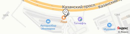 Компания автозапчастей для грузовых иномарок на карте Набережных Челнов