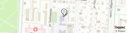 Средняя общеобразовательная школа №10 с углубленным изучением отдельных предметов на карте Альметьевска