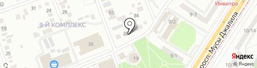 Магазин обоев на карте Набережных Челнов