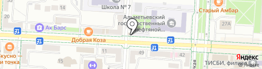 Цветочек на карте Альметьевска