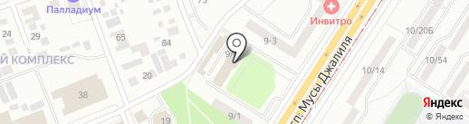 Асток на карте Набережных Челнов
