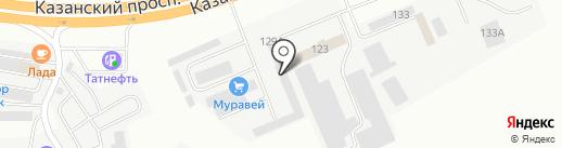 Защитник на карте Набережных Челнов