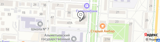 Центральное, ТСЖ на карте Альметьевска
