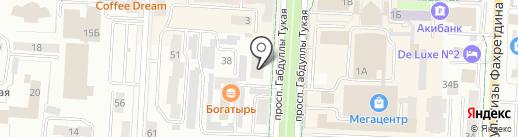 Color на карте Альметьевска