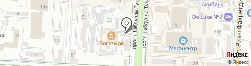 Трамплин на карте Альметьевска