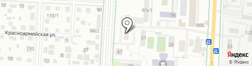 Резеда на карте Альметьевска