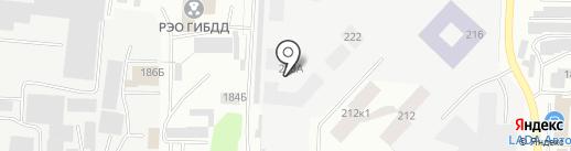 Мустанг на карте Альметьевска