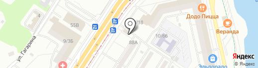 Пражский дворик на карте Набережных Челнов