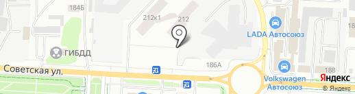 Автоателье на карте Альметьевска