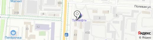 Управление ресурсами Альметьевского муниципального района, МУП на карте Альметьевска