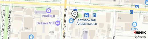 Юлдаш на карте Альметьевска