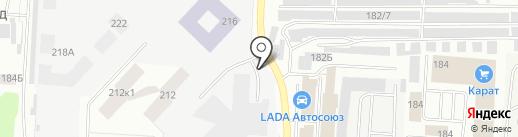 Автомойка на карте Альметьевска