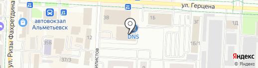 Шкап на карте Альметьевска