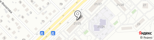 Сдобушка на карте Набережных Челнов