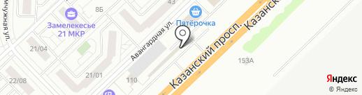 Интеркардан на карте Набережных Челнов