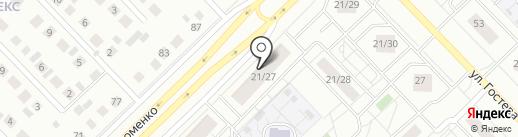Сеть магазинов на карте Набережных Челнов
