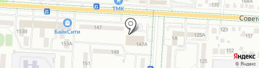 Меркурий, ЗАО на карте Альметьевска