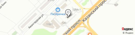 Теплоф на карте Набережных Челнов
