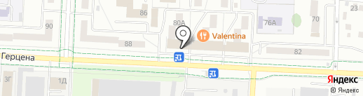 Глобус на карте Альметьевска