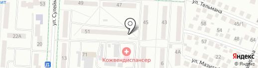 ЖЭУ №7 на карте Альметьевска