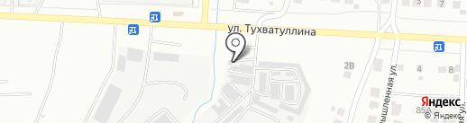 Шиномонтажная мастерская на ул. Тухватуллина на карте Альметьевска