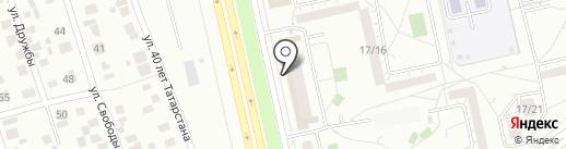 Нехитрое дело на карте Набережных Челнов