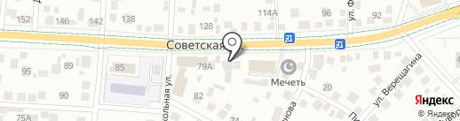 Каскад на карте Альметьевска