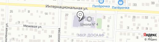 Средняя общеобразовательная школа №4 на карте Альметьевска