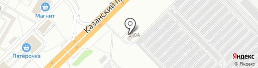 СТО Автомир на карте Набережных Челнов