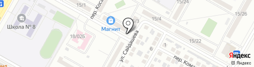 Магазин мясной продукции на карте Набережных Челнов