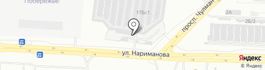 Прикамский на карте Набережных Челнов