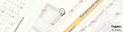 Санвэй на карте Набережных Челнов