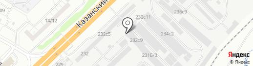 Индиго на карте Набережных Челнов