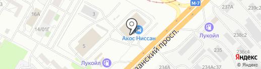 Акос на карте Набережных Челнов