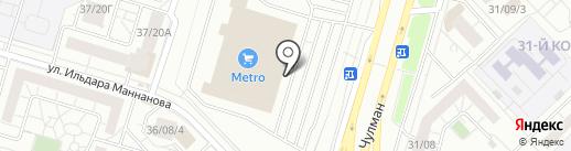 Элекснет на карте Набережных Челнов