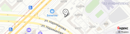 Экском-Челны на карте Набережных Челнов