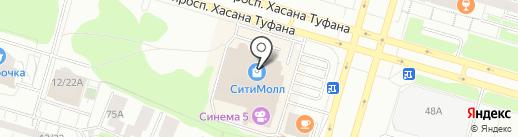 Пломбибон на карте Набережных Челнов