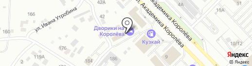 Дворики на Королёва на карте Набережных Челнов