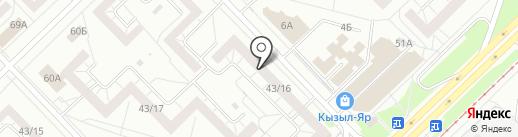 География на карте Набережных Челнов