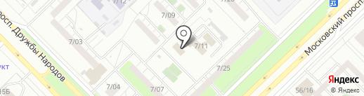 Грань на карте Набережных Челнов