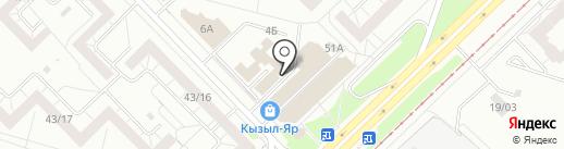 Магазин табачных изделий на карте Набережных Челнов