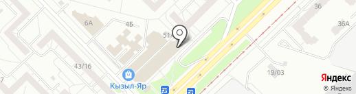 Сеть платежных терминалов, Камский коммерческий банк на карте Набережных Челнов