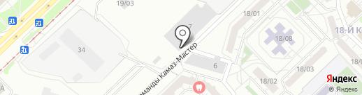 Солнечный на карте Набережных Челнов