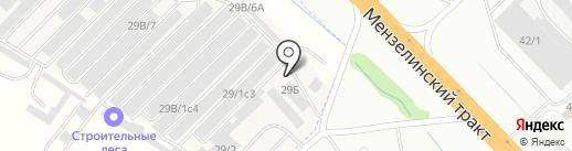 Челны-авторазбор на карте Набережных Челнов