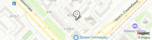 Дорожное, FM 88.6 на карте Набережных Челнов