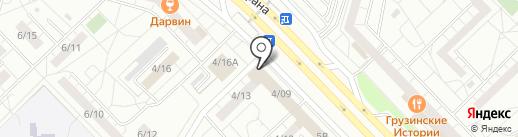 Славица на карте Набережных Челнов