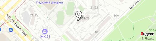 Интекса на карте Набережных Челнов