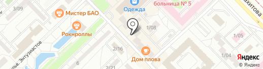 Комсомольское на карте Набережных Челнов